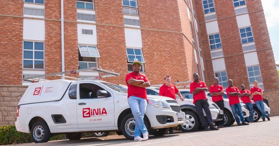 Zinia service vehicles